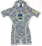 Swimsafe drijfpakje Dolphin Stripe blauw_