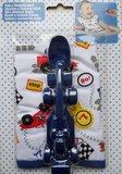 Cadeauset slab met vliegtuig/ racewagen lepel (diverse kleuren)_