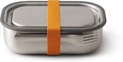 Black+Blum RVS Bentobox, incl. vork - oranje strap
