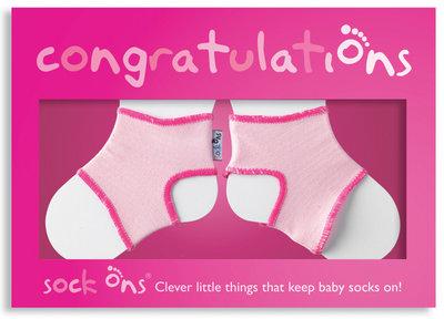 Sock Ons Congratulations Girl