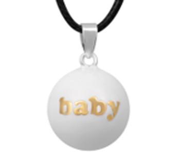 Zwangerschapsketting 'baby' (wit)