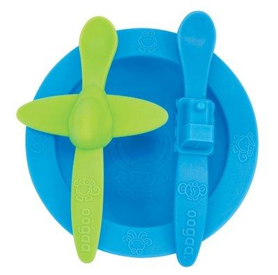 OOGAA maaltijd set blauw-groen