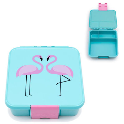 Little Lunchbox Flamingo - 3 vakken