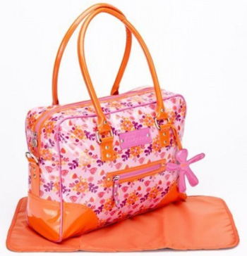 GRATIS BIJ MINIMALE BESTELLING VAN €40: Luiertas Today Glossy Oranje-Roze