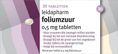 Leidapharm Foliumzuur 30 tabletten