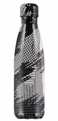 Chilly's geïsoleerde drinkfles 500ml Abstract Black