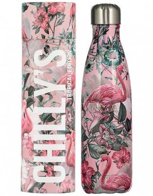 Chilly's geïsoleerde drinkfles 500ml Flamingo