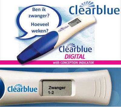 Clearblue zwangerschapstest met conceptie-indicator