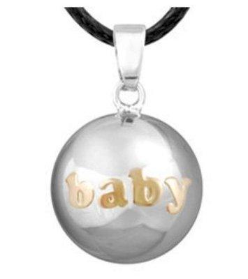Zwangerschapsketting 'baby' (verzilverd)