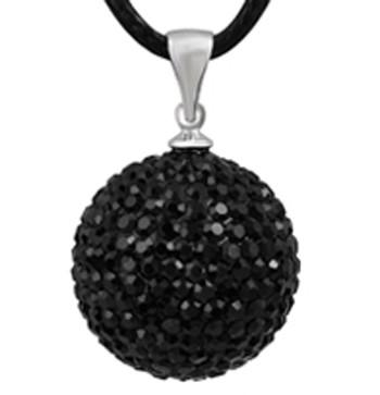 Zwangerschapsketting kristal (zwart)