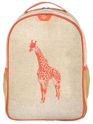 SoYoung rugzak Neon Orange/Pink Giraffe