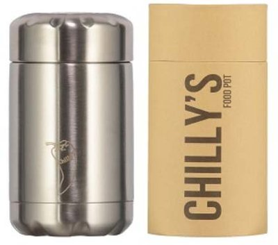 Chilly's geïsoleerde foodpot Stainless Steel