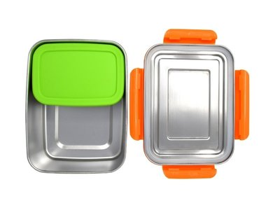 ECOtanka RVS Lunchbox Oranje met 1 Pocketbox