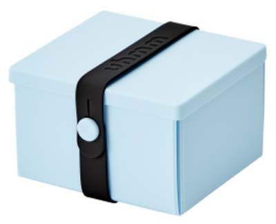 Uhmm Box vierkant Light Blue - Black