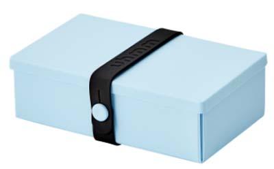Uhmm Box rechthoekig Light Blue - Black