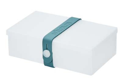Uhmm Box rechthoekig Transparant - Petrol