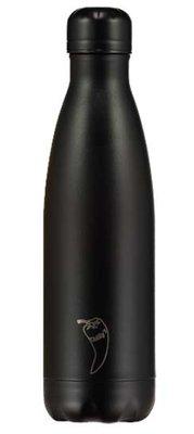 Chilly's geïsoleerde drinkfles 500ml All Black