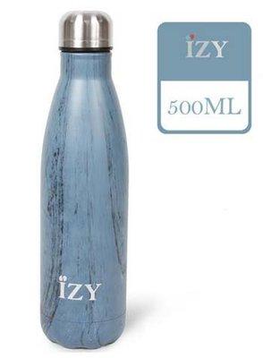 IZY fles Design Blue 500 ml.