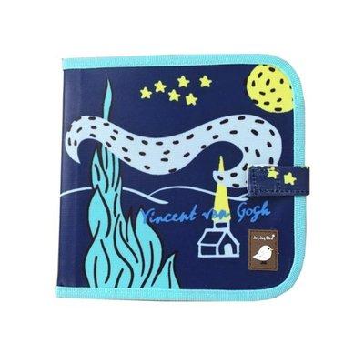 Jaq Jaq Bird krijtboek van Gogh (incl. 4 boterkrijtjes)