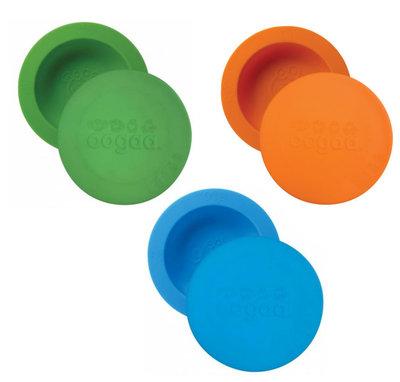 OOGAA set van 3 maaltijdkommen met deksel (groen, oranje en blauw)