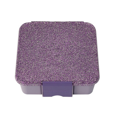 Little Lunchbox Glitter Paars - 3 vakken