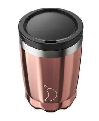 Chilly's Coffee Cup 340ml Rose Gold