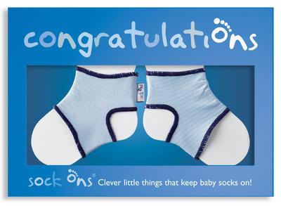 Sock Ons Congratulations Boy