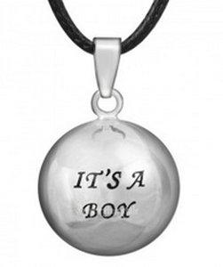 Zwangerschapsketting 'It's a boy' (verzilverd)