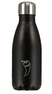 zwarte rvs fles