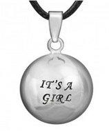 Zwangerschapsketting 'It's a girl' (verzilverd)