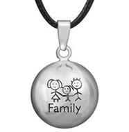 Zwangerschapsketting family (verzilverd)