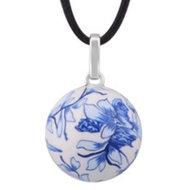 Zwangerschapsketting bloem (blauw-wit)
