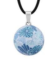 Zwangerschapsketting bloem (blauw)