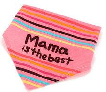 Bandana slab 'mama is the best' (roze)