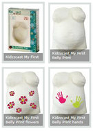 Zwanger en Kids. My first belly print